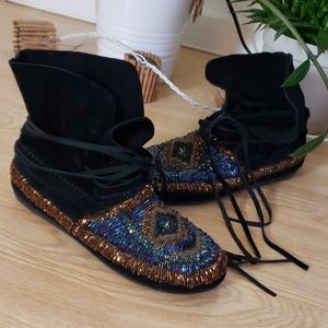 House of Harlow 1960 beaded moccasin booties